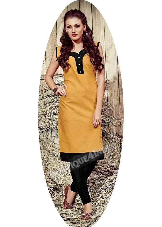 Sandal/Tofee Exotic colored Rayon Fabric Kurti