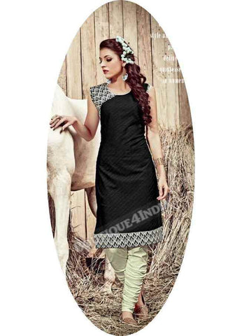 Black Exotic colored Rayon Fabric Kurti