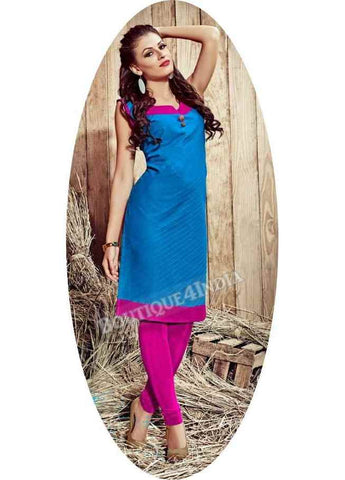 Blue Exotic colored Rayon Fabric Kurti