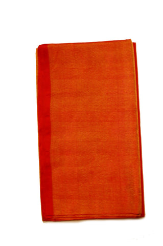 Uppada Tissue Silk  Saree in Orange  and Pink Color