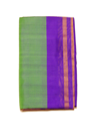 Pure Light weight Uppada Silk Saree in Green and Blue Color