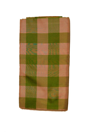 Light weight Uppada Silk Saree in Shades of Green Checkered and Golden Jarri Color - Boutique4India Inc.