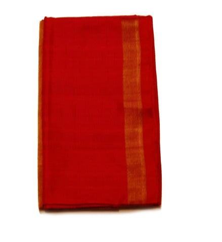 Pure Light weight Uppada Silk Saree in Maroon and Orange/Golden Color
