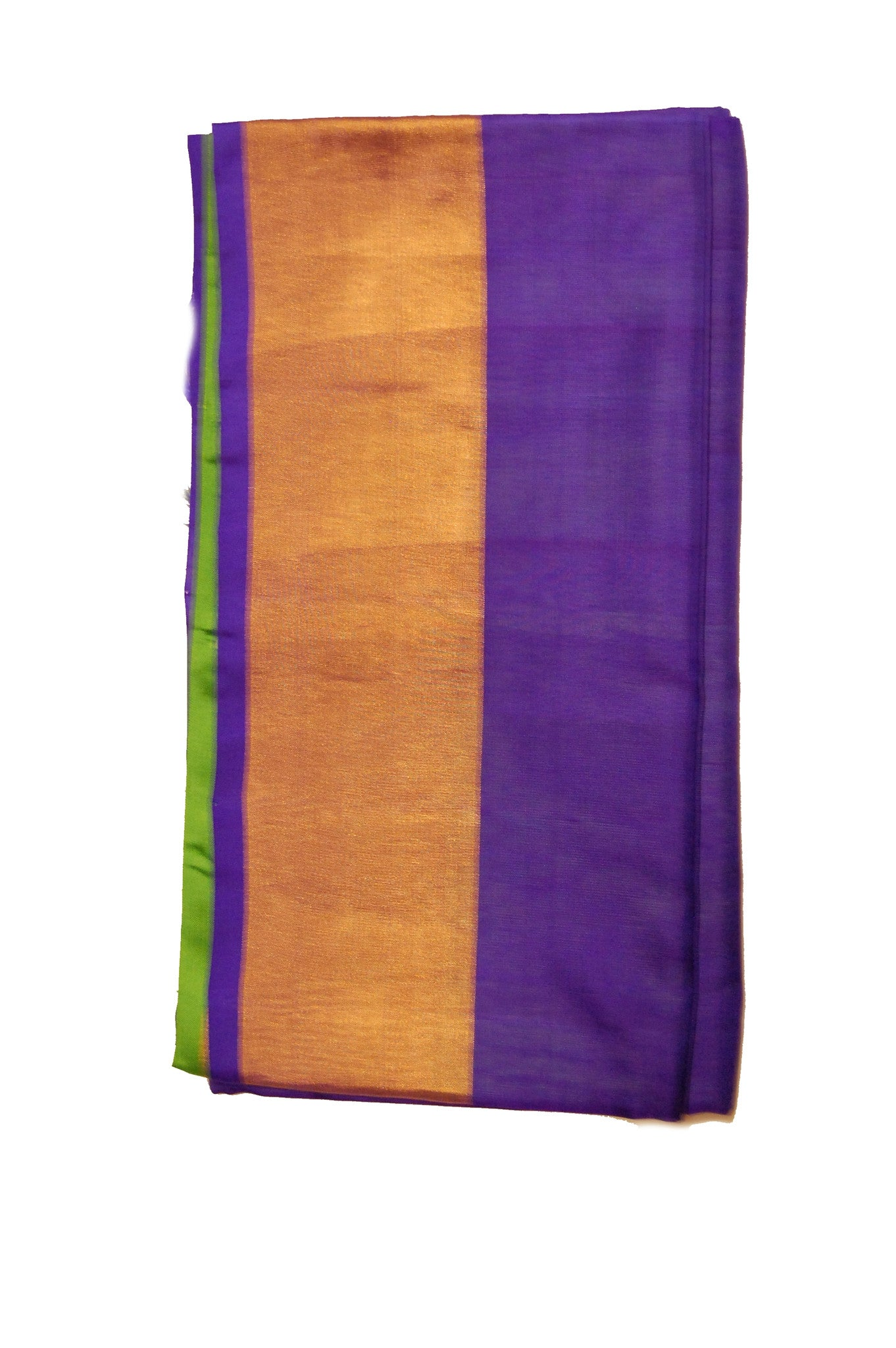 Pure Light weight Uppada Silk Saree in Navy Green and Golden Color