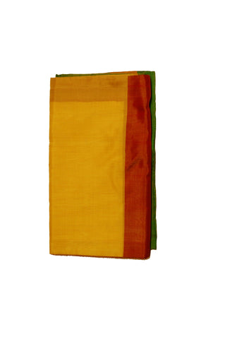 Pure Light weight Uppada Silk Saree in Yellow, Green and Golden Color