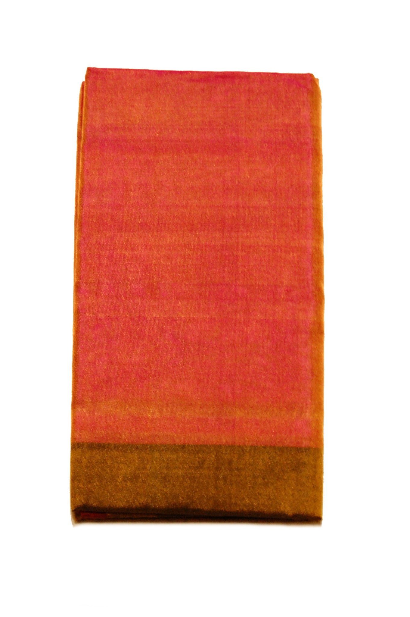 Uppada Silk Saree in Orange, Pink and Golden Color