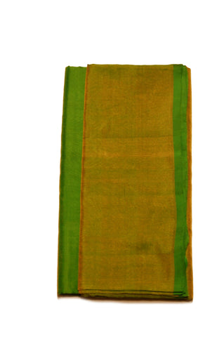 Uppada Silk Saree in Tender leaf Green blended with Golden Color