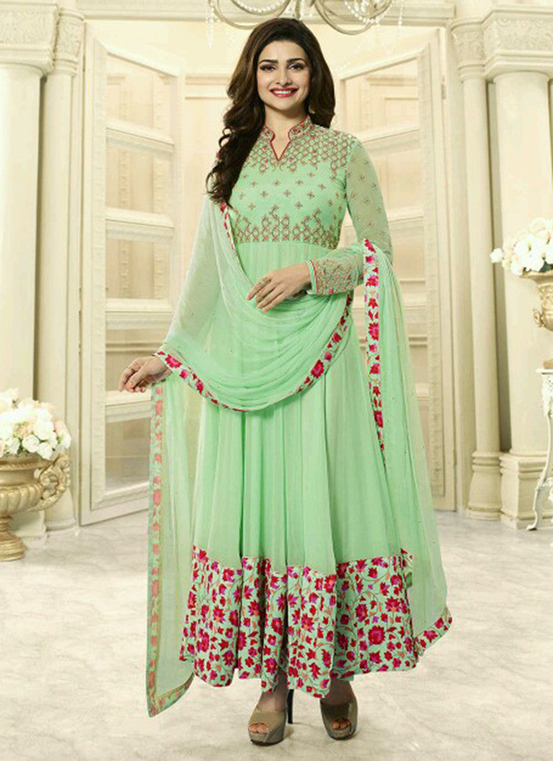 Georgette Pista Embroidered Anarkali Suit