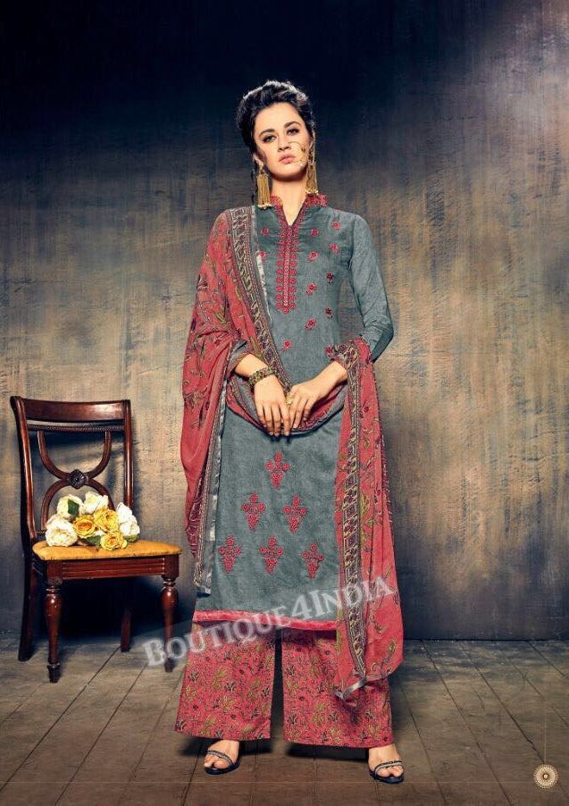 Sirocco Pure Jam Silk Cotton Salwar Palazoo Suit