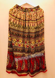 Rayon Multicolor Printed Skirt -4
