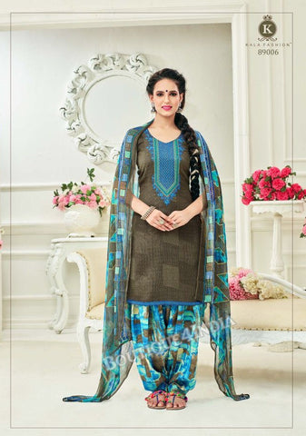 Judge Gray Pashmina self Embroidered Patiala Kameez