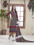 Grey Printed Pashmina Salwar Suit