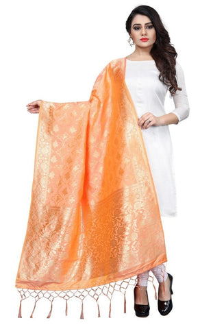 Golden Art Silk Banarasi Dupatta