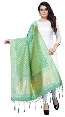 Green Banarasi Art Silk Dupatta