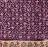 Purple Color Chanderi Embroidered Straight Cut Salwar Suit