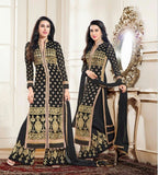 Salwar - Heavy Work Designer Wedding Collection - Black And Gold Grand And Graceful Heavy Embroidery And Lace Work Unique Collection For Party / Wedding / Festival / Special Occasion - Boutique4India Inc.