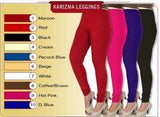 Stretchable viscose lycra fabric soft Leggings for regular wear