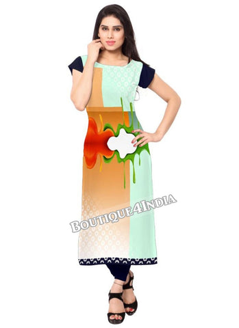 Multi color Crepe Casual wear Printed Kurti