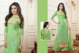 Heavy Work Designer Wedding Collection - Pista Green And Golden Grand And Graceful Heavy Embroidery And Lace Work Unique Collection For Party / Wedding / Festival / Special Occasion - Ready to Stitch - Boutique4India Inc.