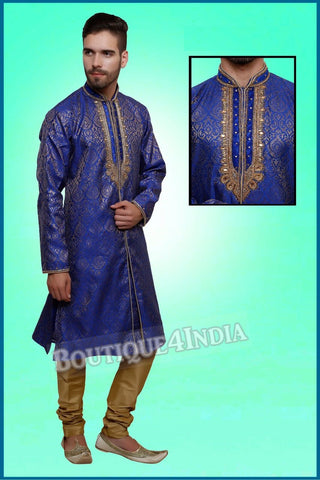 Men's - Royal Navy and Golden Sherwani