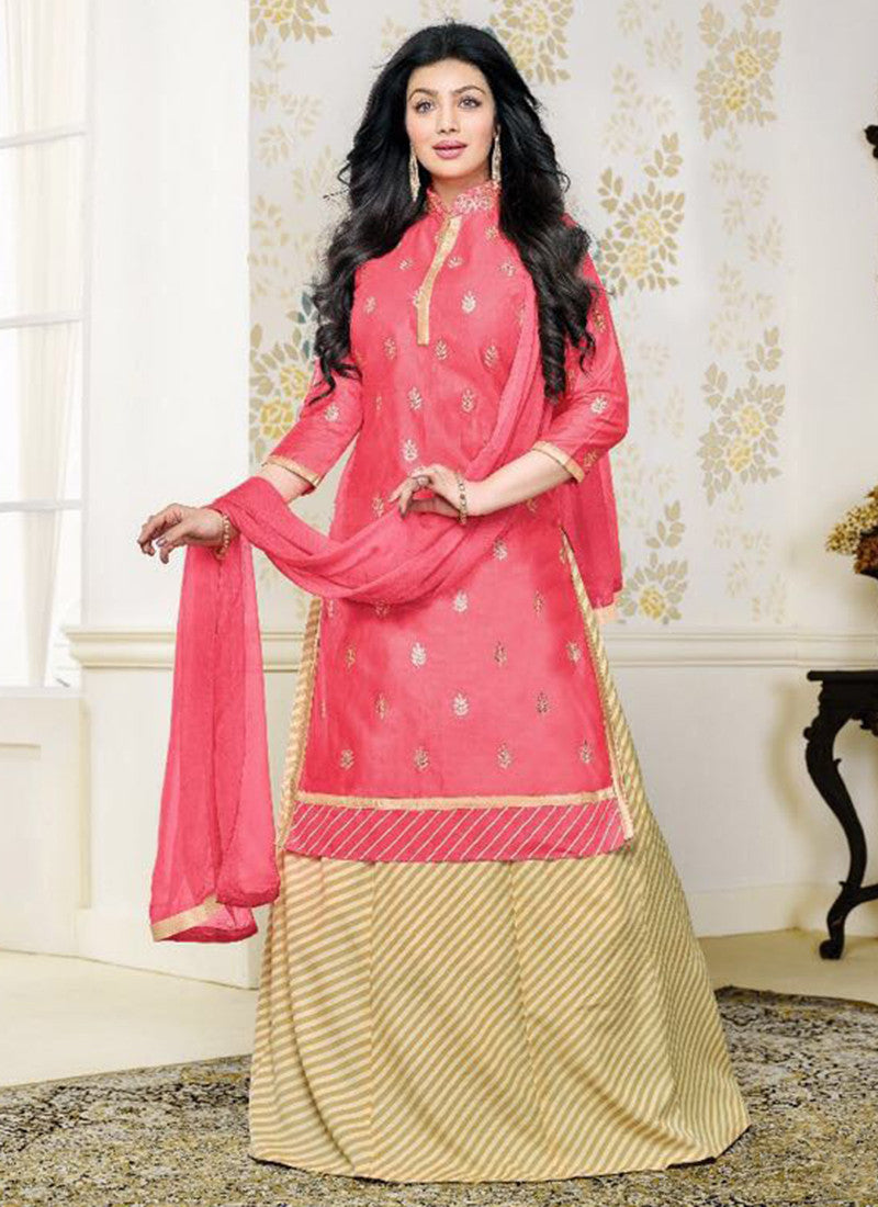 Cotton Gajri Embroidered Work Anarkali Suit