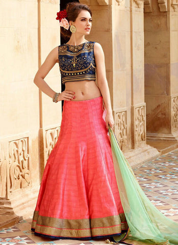 Gajri banglori Silk Wedding Lehenga Choli