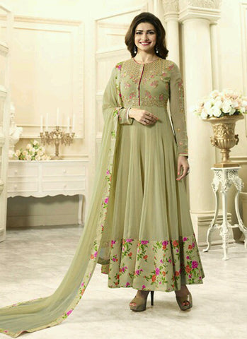 Georgette Beige Party wear Anarkali Suit
