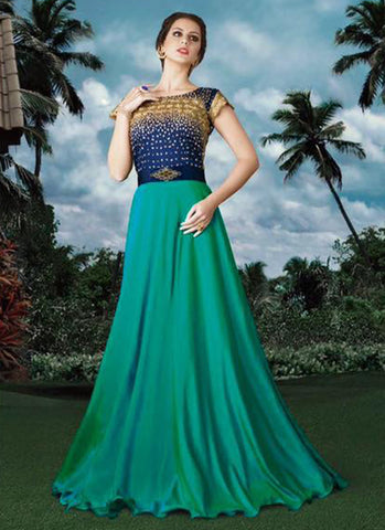 Green Net Bridal Embroidered Anarkali Suit