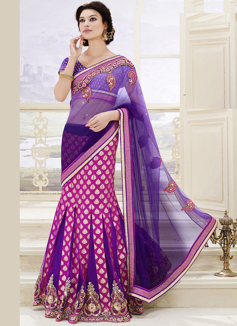 Burgundy one minute saree