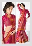 Sarees - Different Pink Shades And Golden Designer Cotton Collections - Stunning Designer Cotton Trendy Designer Collections / Party / Special Occasions / Festival / Casual Wear - Boutique4India Inc.