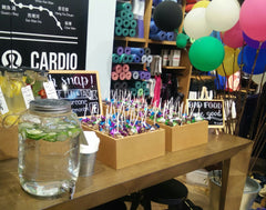 Lululemon HK yoga in store Hysan Place event, our first Cake Pops here