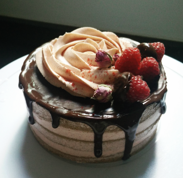 Pink Chocolate Naked Cake