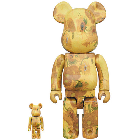 BE@RBRICK Van Gogh Museum Sunflowers 100% & 400% - ActionCity