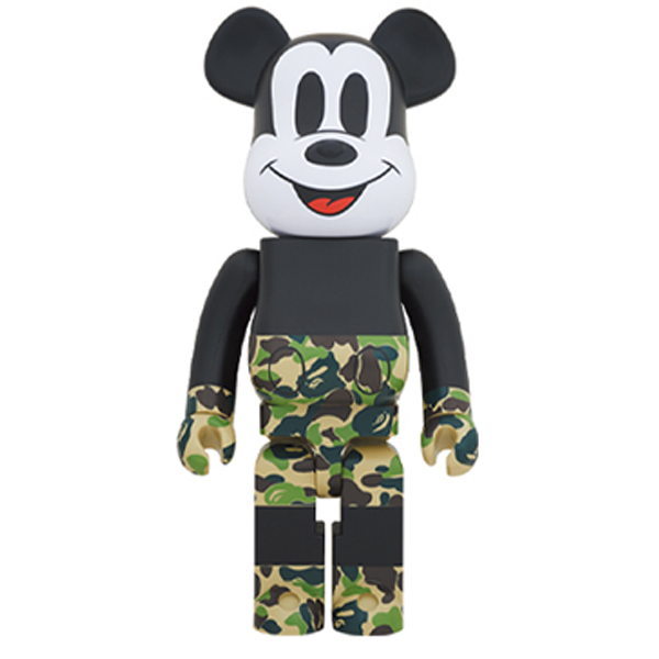BE@RBRICK BAPE(R) Mickey Mouse 1000% Green - ActionCity