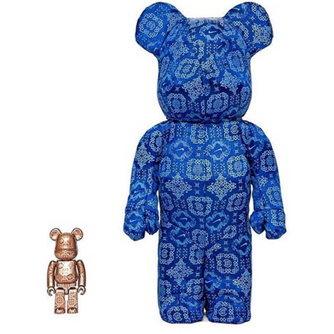 BE@RBRICK Clot x Nike Royale University Blue Silk 100% & 400%
