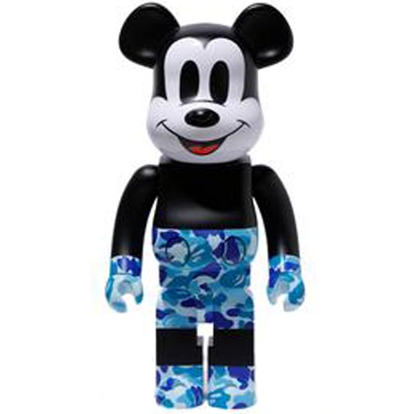 BE@RBRICK BAPE(R) Mickey Mouse 1000% Blue