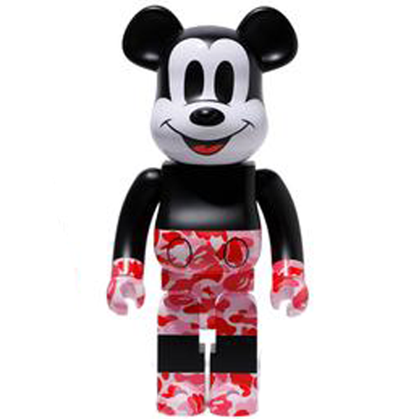 BE@RBRICK BAPE(R) Mickey Mouse 1000% Pink