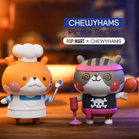 ActionCity Live: Pop Mart Chewyhams Pirate - Case of 8 Blind Boxes