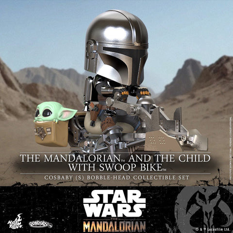 COSB846 - The Mandalorian and the Child with Swoop Bike Cosbaby (S) Bobble-Head Collectible Set
