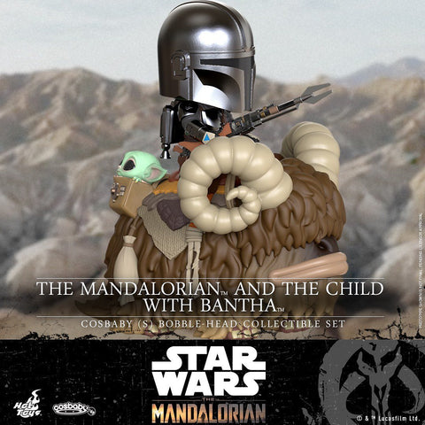 COSB847 - The Mandalorian and the Child with Bantha Cosbaby (S) Bobble-Head Collectible Set