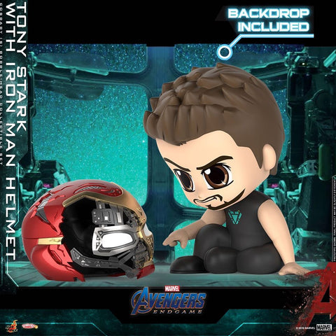COSB653 – Tony Stark with Iron Man helmet Cosbaby (S)