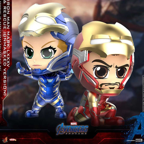 COSB667 – Iron Man Mark LXXXV & Rescue (Unmasked Version) Cosbaby (S)