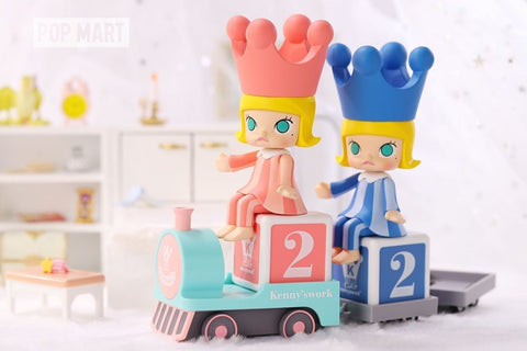 Pop Mart Molly Happy Train Series - Case of 12 Blind Boxes