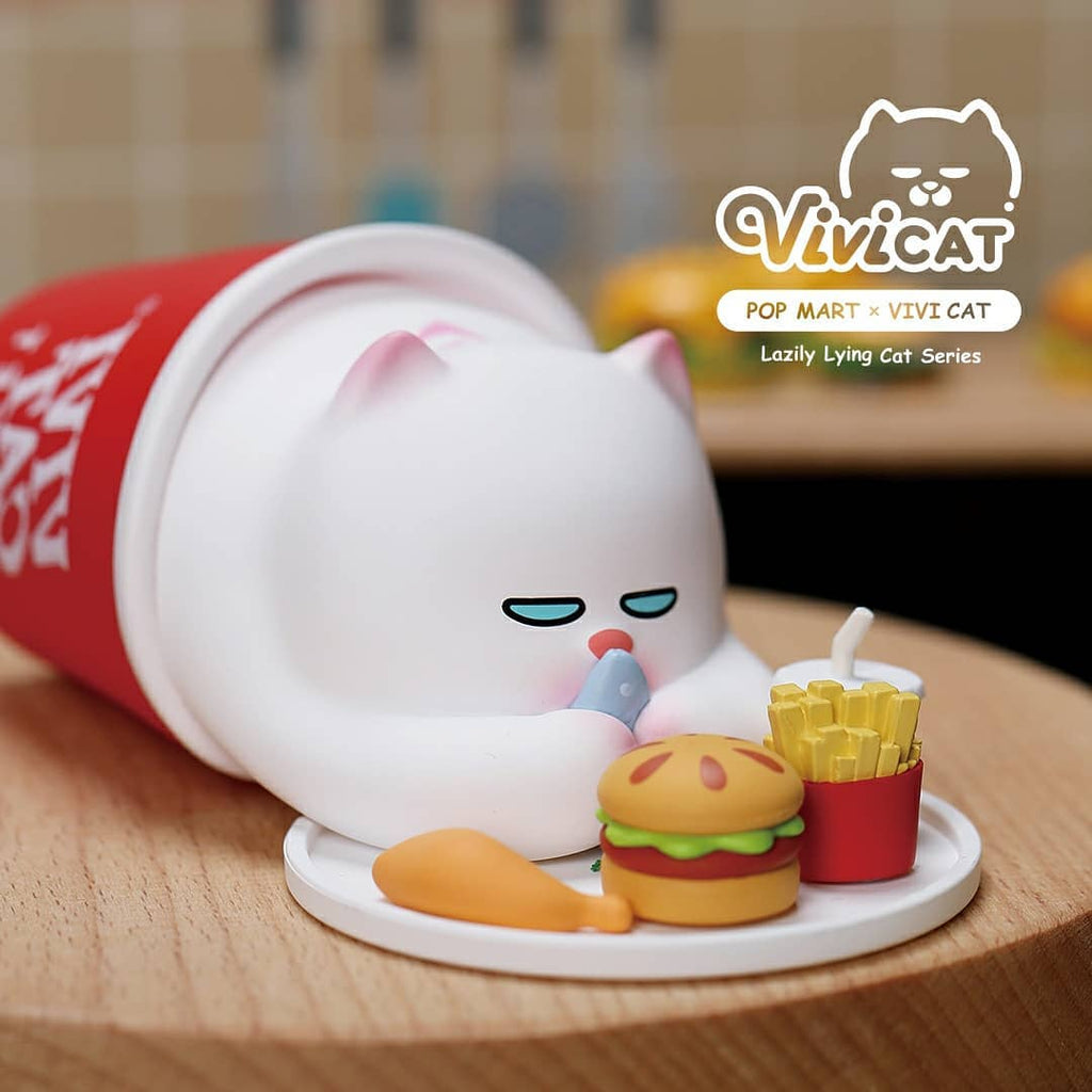 Pop Mart Vivicat Lazily Lying Cat Series - Case of 9 Blind Boxes