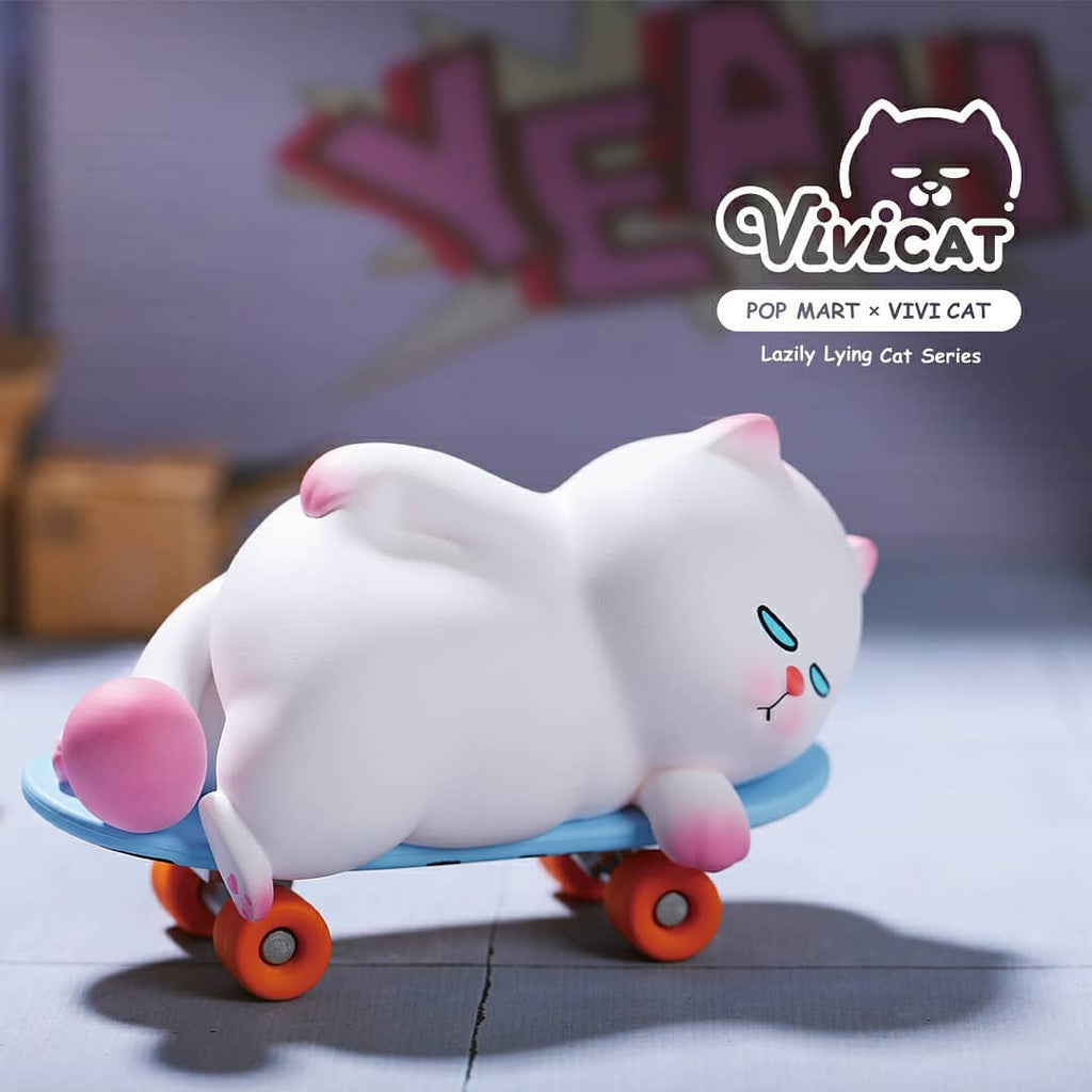 Pop Mart Vivicat Lazily Lying Cat Series - Case of 9 Blind Boxes - ActionCity