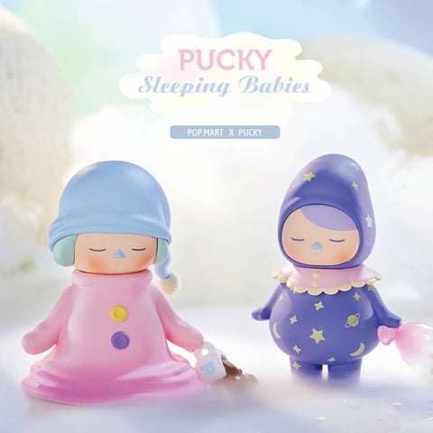 Pop Mart Pucky Sleeping Babies Series - Case of 12 Blind Boxes - ActionCity