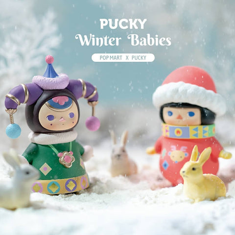 Pop Mart Pucky Winter Babies Series - Case of 12 Blind Boxes