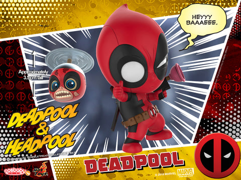 COSB483 - Deadpool 2 - Deadpool and Headpool Cosbaby (S) Collectible Set - ActionCity