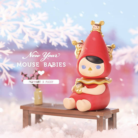 Pop Mart Pucky New Year Mouse Babies Series Set - ActionCity