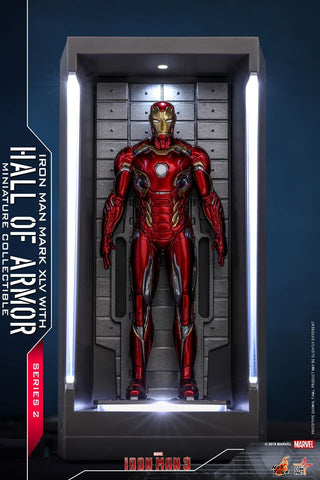 MMSC014 - Iron Man Mark XLV With Hall Of Armor Miniature Collectible - ActionCity